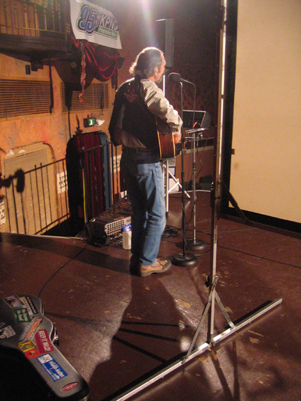Walkin' Jim Stoltz onstage at the Panida Theater in 2008.