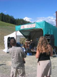 Northwest Montana balladeer Alan Lane entertains at the Yaak Wilderness Fest July 31.