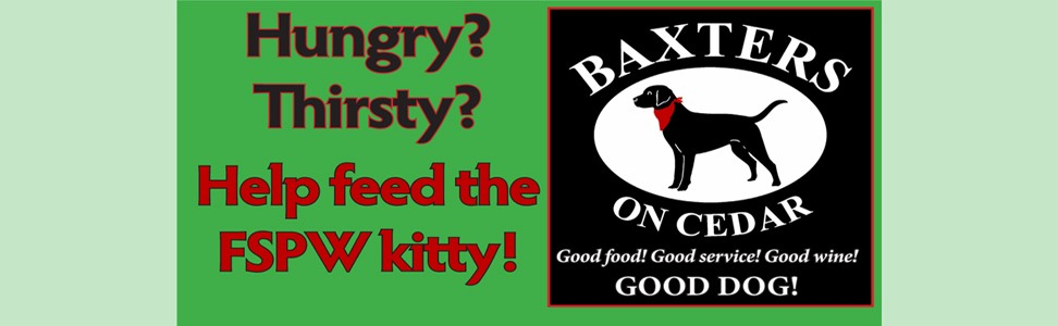 Join us at Baxter's On Cedar for fun, food and fundraising!