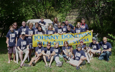 Swimmers from the 2010 Johnny Donovan Memorial Swim