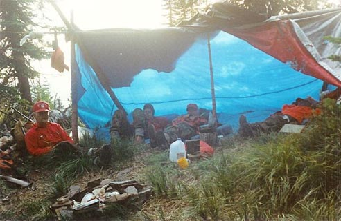 Photo of Mayor Miller camping with family