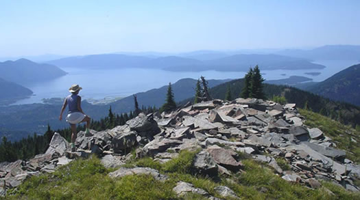 View of Lake Pend O'reille from Goat Peak