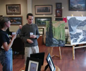 2009 Plein Air Art Open House at the Outskirts Gallery in Hope, ID