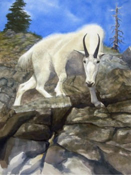 """Decision Point"" was painted with both the goat and the observer in mind."