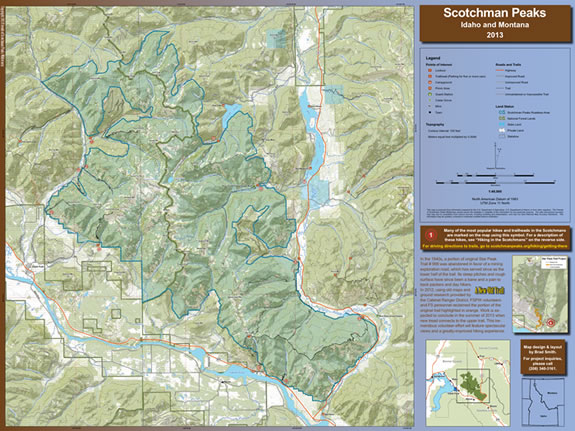 Map of Scotchman Peaks Wilderness