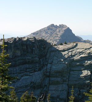 The Elinor Crag in the Scotchman Peaks with Scotchman in the background exemplifies the pristine nature of the proposed wilderness.