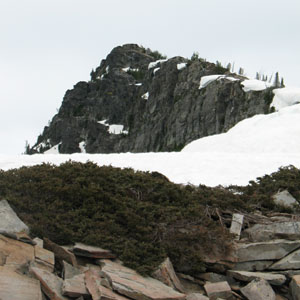 The top of Scotchman Peak from the false peak.
