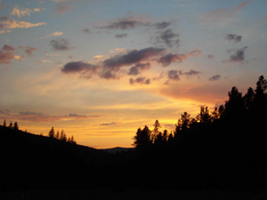 Sunset Over Gold Creek